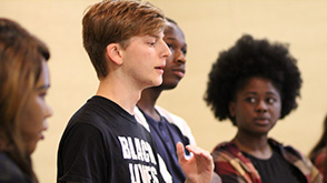 Mississippi Teen Speaking to Group