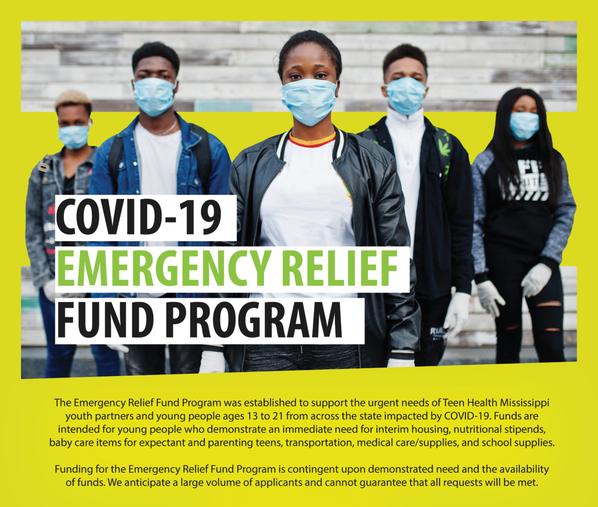 Covid 19 Emergency Relief Fund Awards 150 Youth From Across Mississippi Teen Health Mississippi